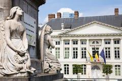 La place du martyre, Bruxelles photos stock