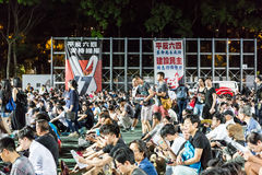 La Place Tiananmen proteste l'événement en Hong Kong Photo libre de droits