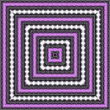La place violette abstraite de kaléidoscope encadre le modèle illustration de vecteur