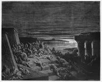 La plaga de la oscuridad pulso Egipto ilustración del vector