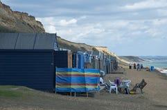 La plage à la Barton-sur-mer Images libres de droits