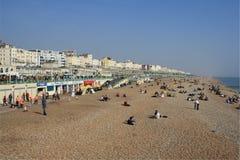 La plage à Brighton, R-U photographie stock libre de droits