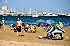 La plage à Torrevieja Alicante 3 photo stock