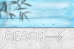 La plage écrivent sur le sable photos stock