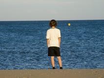 À la plage Photographie stock libre de droits