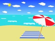 La plage. Image libre de droits