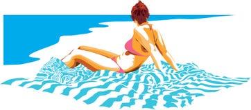 La plage illustration stock