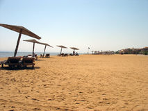 la plage a abandonné Images libres de droits