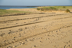 la plage a abandonné Photos stock