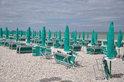 La plage attend l'Italie Photographie stock