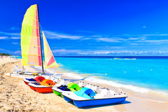 La plage au Cuba un bel été photographie stock libre de droits
