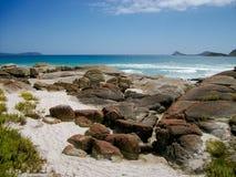 La plage bleue Image stock