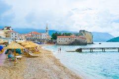 La plage centrale Images libres de droits