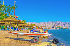 La plage centrale d'Eilat Photos stock