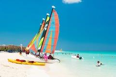 La plage chez Cayo Santa Maria au Cuba Photo stock