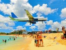 La plage chez Maho Bay Photos libres de droits
