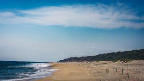 La plage chez Puerto Escondido Photos libres de droits