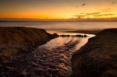 La plage chez Stoupa Photographie stock