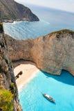Baie de naufrage de Zakynthos photos stock