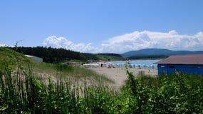La plage d'Ahtopol Images libres de droits