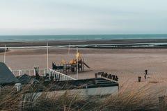 La plage d'Ouddorp, Pays-Bas images libres de droits