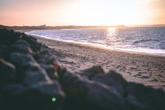La plage d'Ouddorp, Pays-Bas photographie stock