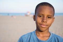 La plage d'un garçon Images libres de droits