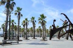 La plage de Barceloneta Photo stock