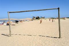 La plage de Barra de Valizas en Uruguay Photo stock