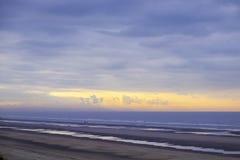 La plage de Bredene en Belgique Photographie stock