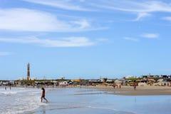 La plage de Cabo Polonio sur l'Uruguay Images libres de droits