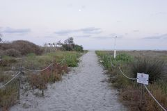 La plage de Castellon Photos libres de droits