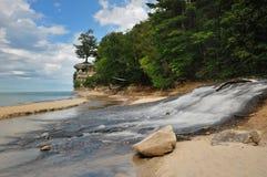 La plage de chapelle décrite oscille le Michigan images libres de droits