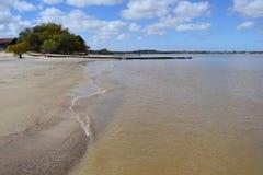 La plage de Coloniaisolé Images libres de droits