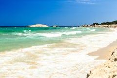 La plage de Costa Rei, Sardaigne Photographie stock libre de droits