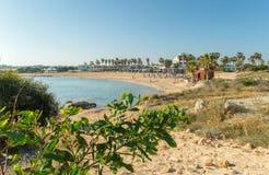 La plage de dôme, Chypre Images stock