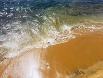 La plage de Galle font face au Sri Lanka photo stock
