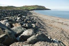 La plage de Greystone, Irlande Photos libres de droits