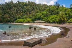 La plage de Hana, Maui Images stock