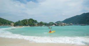 La plage de l'île de Tao de KOH de la Thaïlande image stock