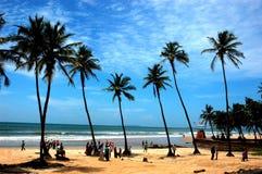 La plage de la Goa-Inde. photos stock