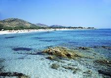 La plage de la Sardaigne de Bidderosa photographie stock libre de droits