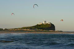 La plage de Nobby - Newcastle Images libres de droits