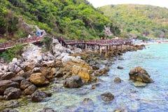La plage de Pattaya Photos libres de droits