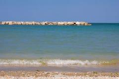 La plage de Porto San Giorgio Photos libres de droits