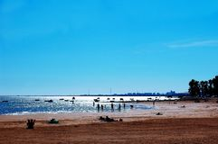 La plage de Puerto vraie à Cadix Photographie stock libre de droits