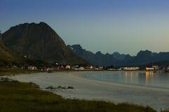 La plage de Ramberg, Lofoten Image stock