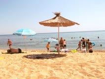 La plage de repos Photographie stock