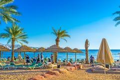 La plage de sable dans Eilat Photographie stock