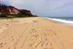 Plage de Taipe - une plage tropicale brésilienne photographie stock libre de droits